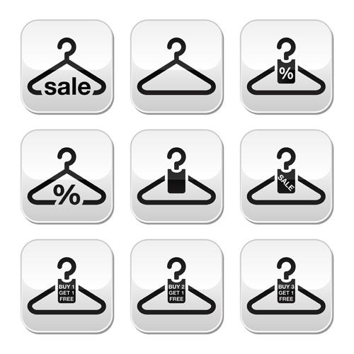 Creative clothes hangers design elements vector 03 for Creative clothes hangers