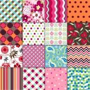 Link toBeautiful fabric patterns vector material 03