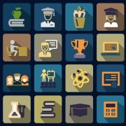 Vector flat social icons set 02