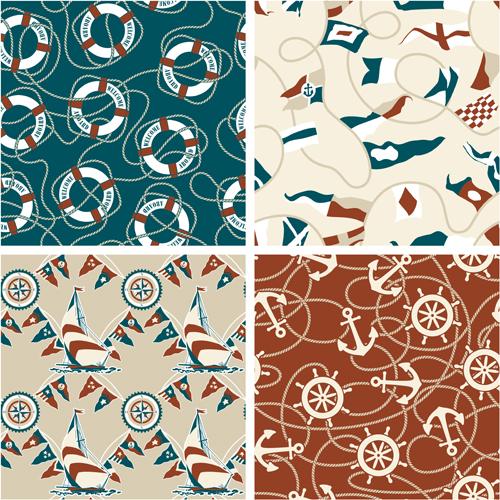Nautical elements seamless pattern vector 02 over millions nautical elements seamless pattern vector 02 toneelgroepblik Image collections