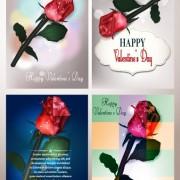 Link toValentines day rose cards design vector 01