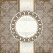 Link toVintage floral background with round frame vector 03