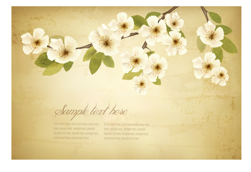 Spring white flowers with vintage background 01 free download spring white flowers with vintage background 01 mightylinksfo