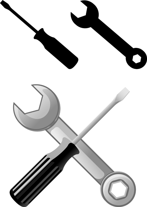 Realistic hardware tools vector graphic set 03 vector Building design tool