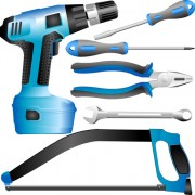 Link toRealistic hardware tools vector graphic set 04