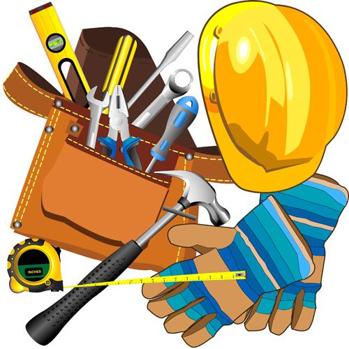 Realistic Hardware Tools Vector Graphic Set 05 Vector