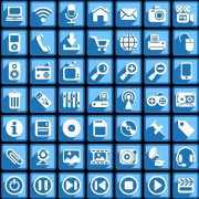 Link toCreative white social icons vector graphic 01