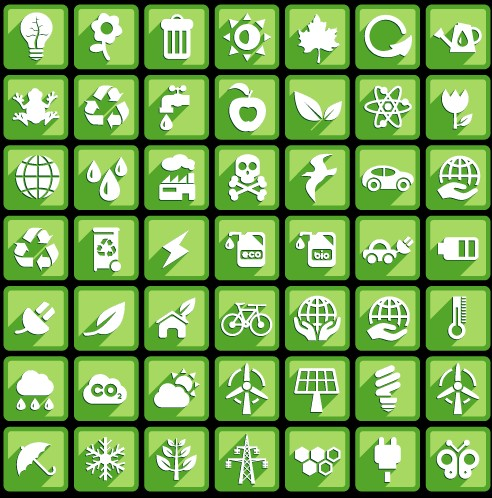 Creative white social Icons vector graphic 03