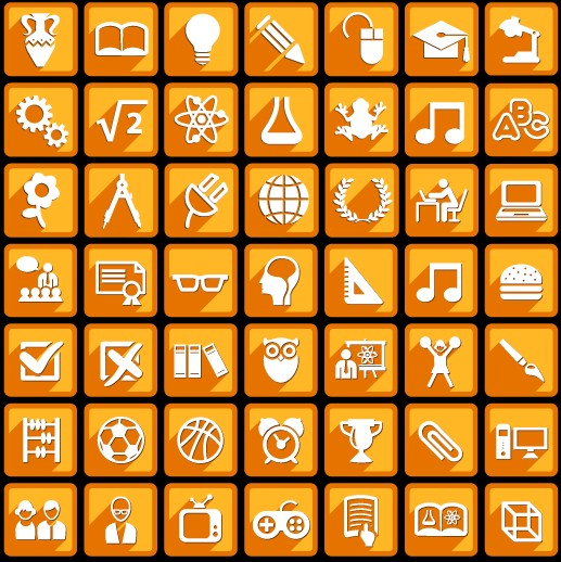 Creative white social Icons vector graphic 04