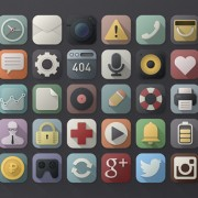 40 kind retro web media icons