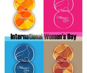 8 March international women day design vector graphics 03
