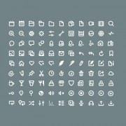 99 kind mini white lines icons psd