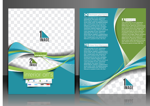 Abstract Wave Flyers Cover Vector Graphics Free Download