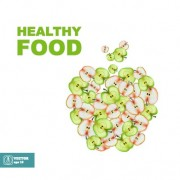 Link toApple slice healthy food background vector 03
