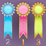 Link toCreative colored award badges vector 03