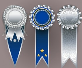 Creative colored award badges vector 04