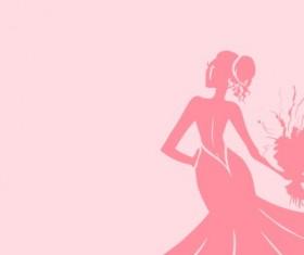 Beautiful bride design vector silhouette 03