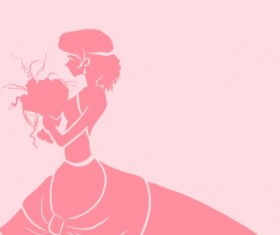 Beautiful bride design vector silhouette 04