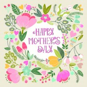 Link toBeautiful floral pattern greeting cards vector graphics 01