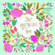 Link toBeautiful floral pattern greeting cards vector graphics 02