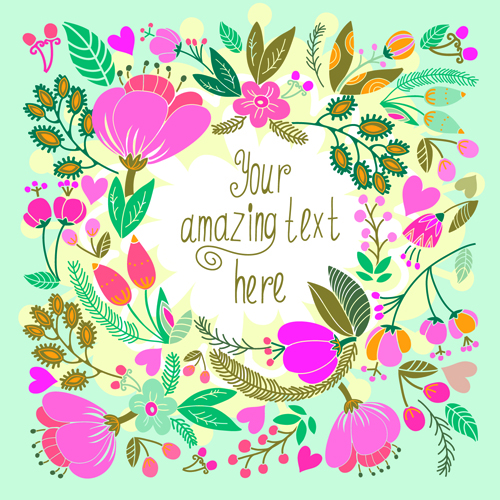Beautiful floral pattern greeting cards vector graphics 02 free download beautiful floral pattern greeting cards vector graphics 02 m4hsunfo
