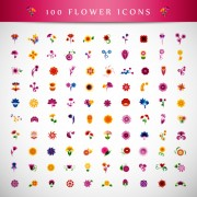 Link toBeautiful flower icons vector graphics