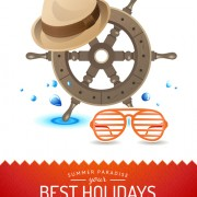 Link toBest holidays poster creative vector 02