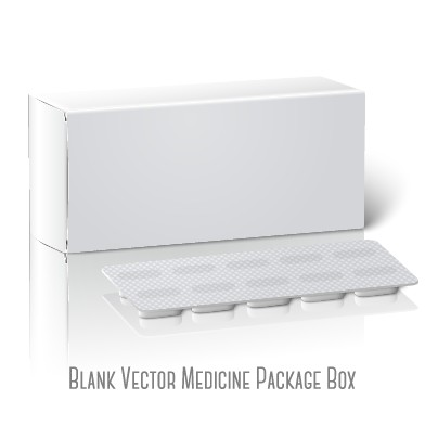 blank drugs package box design vector vector cover free