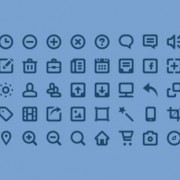 Blurred mini web icons