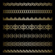 Link toLuxury golden lace borders vector set 01