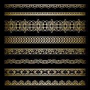 Link toLuxury golden lace borders vector set 02