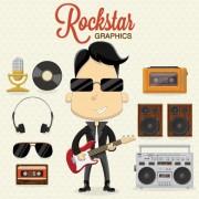 Link toBoys and rock design vector set