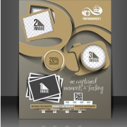 Link toBusiness style numbered flyers cover template vector