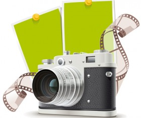 Camera and film vector material