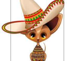 Cartoon animal and hat design vector