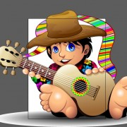 Link toCartoon boy and guitar design vector