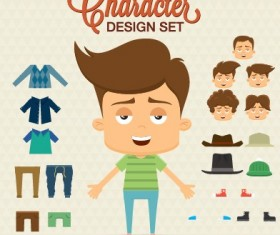 Cartoon character with elements vector