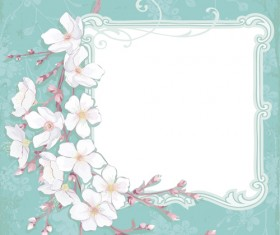 Cherry with vintage background vector