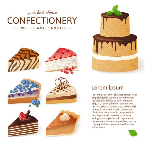 Chocolate cake background vector graphics