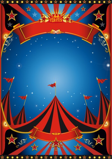 Vintage Style Circus Poster Design Vector 01