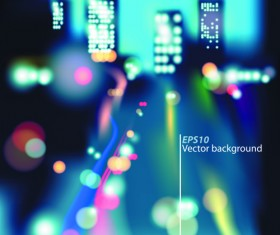 Blurred city night vector background 01
