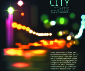 Blurred city night vector background 02