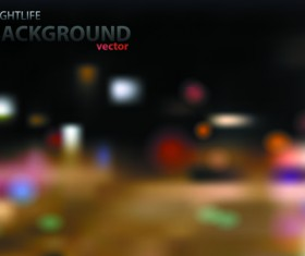 Blurred city night vector background 05