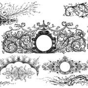 Link toClassical ornaments elements vector material 02