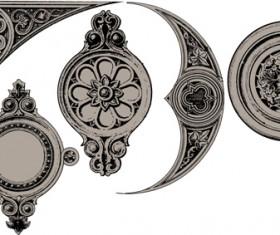 Classical ornaments elements vector material 03