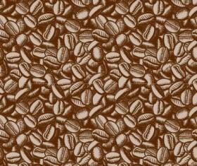 Creative coffee beans pattern vector grephics 01