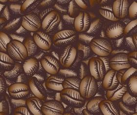 Creative coffee beans pattern vector grephics 02