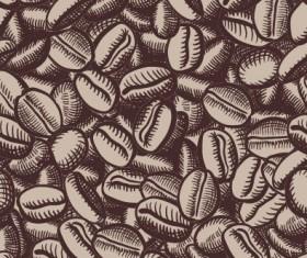 Creative coffee beans pattern vector grephics 03