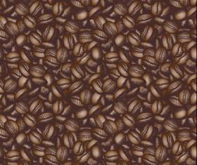 Creative coffee beans pattern vector grephics 04