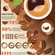 Link toCoffee infographics business template design vector 01